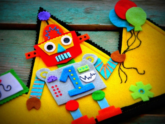 Robot Birthday Party Hats