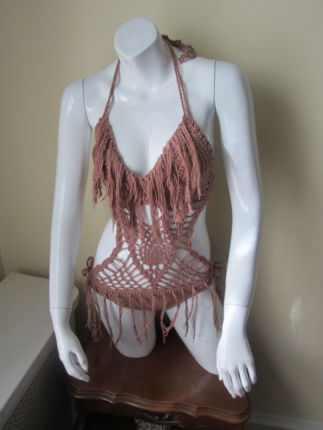 Crochet Monokini : Crochet one piececrochet swimwear CUSTOMIZED by Elegantcrochets