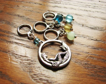Mermaid & Sea Glass Non-Snag Stitch Markers