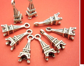 SALE 5 Eiffel Tower, Paris, Jewelry Findings Charms id1060096 Europe France scrapbooking embellishment