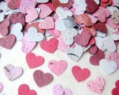 100 Seed Paper MINI Hearts - Plantable Flower Seed Paper - Add to Invitations