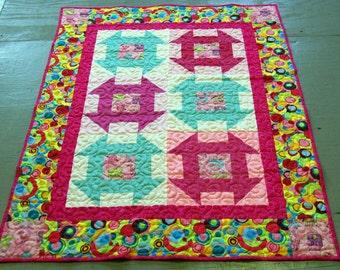 Baby Girl Crib Quilt Churn Dash quilt design