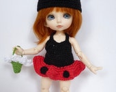 PukiFee/Lati Yellow 4 Pc Outfit Set Little Ladybird