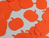 Pumpkin Confetti Large - Pack of 35 Pieces - Glitter, Pearl, or Plain Jumbo Confetti, Fall Confetti, Table Decoration