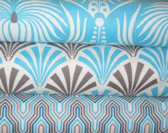 Camelot fabrics, Design Studio combo in Blue, 1/2 yard set of 3 prints