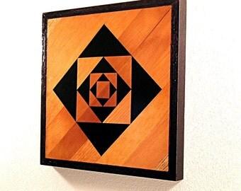 Mathematica. Modern Reclaimed Wood Wall Sculpture