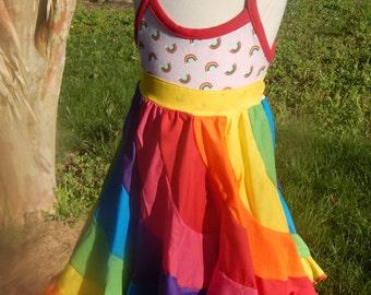 Rainbow twirl dress, 3/4T