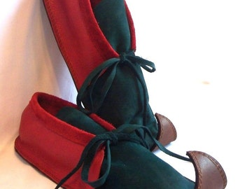 Leather Elf Shoes COMICON Curly Toe Moccasins Fairy Shoes Faerie Slippers Renaissance Footwear Medieval Custom Handmade by Debbie Leather