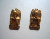 Vintage Oxidized Brass Egyptian Charm Findings