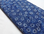 Timeless Treasures Tonga Batik B2533 Sapphire Quilting and Sewing Fabrics Daisies Swirls Blue Bolt End