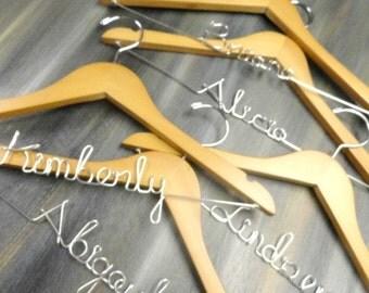 Bridesmaid Hangers - Set of 5 - Bridesmaids Hangers - Bridal Party - Bridal Keepsake - Will You Bridesmaid - Bridal Party Gift - Weddings