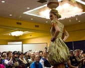 RESERVE for Juliette- Up In The Aether - Steampunk Balloon Dress