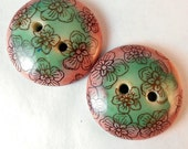 Cherry Blossom Button Pair