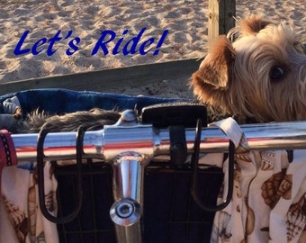 Bicycle Basket Liner for - Dogs - Pets - Includes Embroidered Personalization - Memory Foam Pad