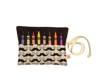 CLEARANCE Eco Crayon Roll | Geekly Mustache