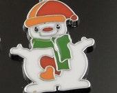 snowman  enamel  charm     metal   jewelry supplies  quantity 1 (x12)