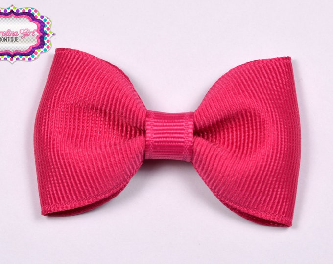"Shocking Pink  2.5"" Hair Bow Tuxedo Bow Simple Bow Boutique Bow for Babies Toddlers Girls Hair Bows"