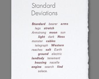 Standard Deviations Letterpress Poem