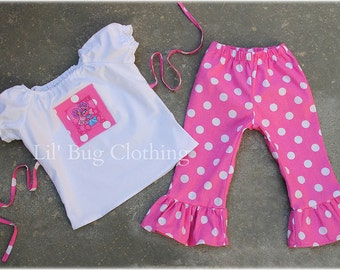 Custom Boutique Clothing Abby Cadabby Peasant Pant Set Birthday Sesame Street