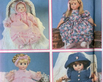 Wardrobe for Baby Dolls Clothing 12 to 22 inch dolls Simplicity 8960 Sewing Pattern UNCUT