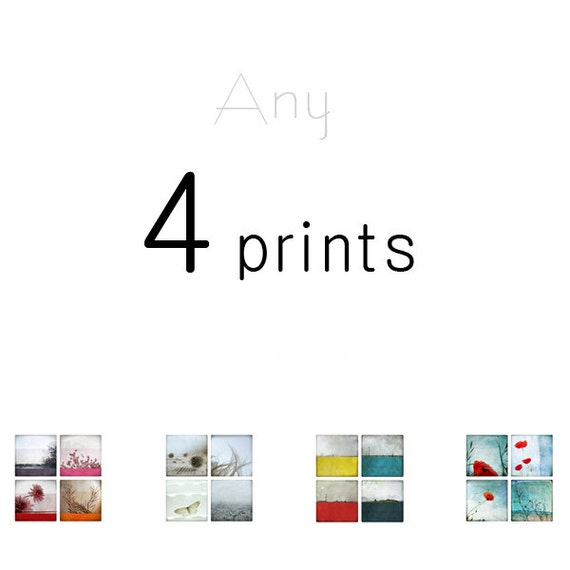 Set of 4 prints - Your choice - Photography Prints