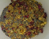 1 lb POTPOURRI FLORAL MIX All Natural Dried Flower Medley Botanical Lavender Rose Buds Bath Sachets Herbal Herbs Bulk Wholesale 16 oz