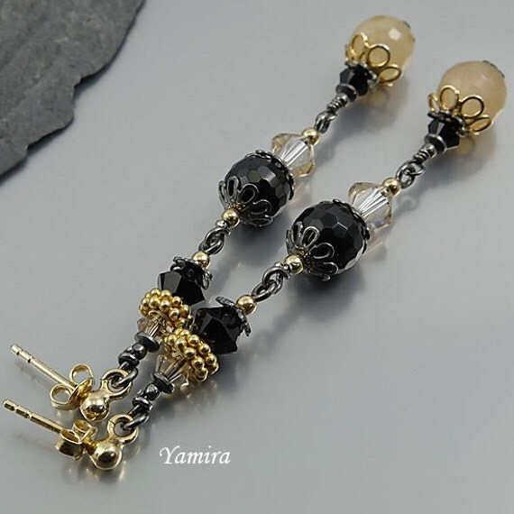 items similar to dangle very long exclusive earrings with