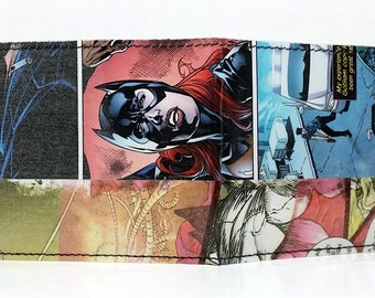 Sewn Comic Book Wallet - Batgirl Design 2