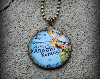 Karachi Map Necklace
