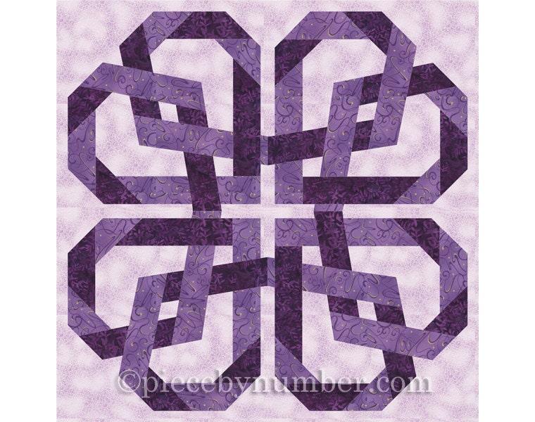 Pretzel Heart quilt pattern paper