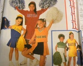 Sewing Pattern Simplicity 8701 Girls'  Cheerleader Costume Size 2-6 Uncut Complete