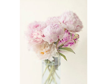 Peony Art, Peony Print, Pink Flower Still Life, Floral Home Decor, Flower Photography
