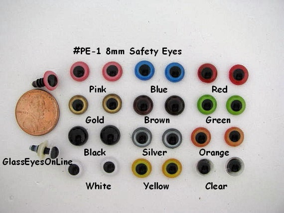 Safety Eyes Amigurumi Malaysia : 12 PAIR 6mm or 8mm or 9mm or 10mm or 12mm Safety EYES ...