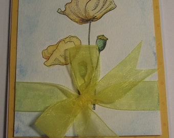 Elegant Floral Handmade Birthday Card