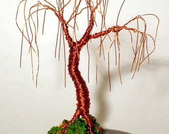Willow of Copper  Wire Tree Sculpture, Original