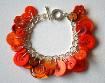 Button Charm Bracelet Fizzy Orange Pop