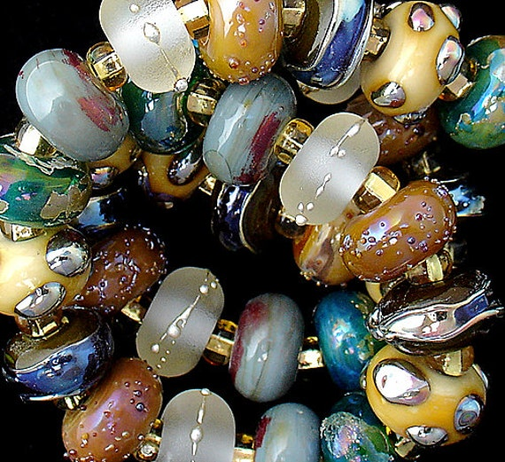 DSG Beads~ Artisan Debbie Sanders Handmade Organic Lampwork Glass Beads ~Beaches~ Made To Order
