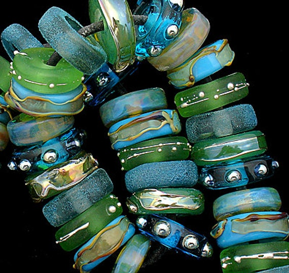 DSG Beads Handmade Organic Lampwork Glass-Made To Order (Enchanted Forest)