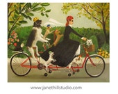 Miss Moon Was A Dog Governess.  Lesson Nine:  With A Little Creativity, The Impossible Can Become Possible. Art Print