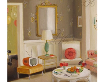 The Party In The Next Room- Art Print From Original Oil Painting