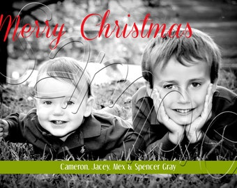 Large B&W Photo Christmas Card