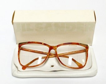 Vintage Eyeglasses Frame Jil Sander model 206, German designer glasses, oversized womens eyeglasses, 1980s deadstock eyewear