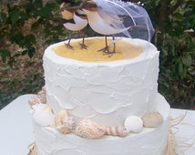 Sandpipers Cake Topper, Beach Cake Topper, Beach Weddings, Bride and Groom Sandpipers