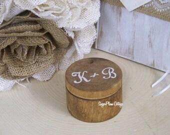 Wooden Rustic Ring Bearer Decorative Box