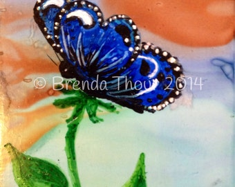Butterfly Bloom aceo