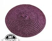 1 - Purple - Straw - Fascinator - Hat Base - Hat Disk - Hat Foundation - Millinery
