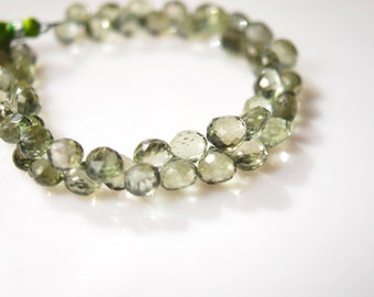1/2 strand of green amethyst onion briolettes  23.00