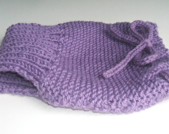 Sale Lanolized Wool Soaker, Girl Wool Diaper Cover, Hand Knit, 3 6 9 month Medium, Great for nighttime