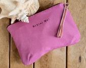Bikini Bag, water resistant in dusty pink