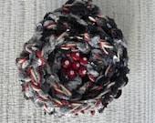 Crochet Flower Brooch - Denim Chenile